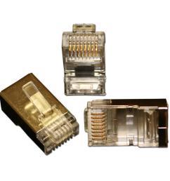 eclipse quikthru rj45 cat6 internal shielded connectors 10 pack 902 551 10 the home depot [ 1000 x 1000 Pixel ]