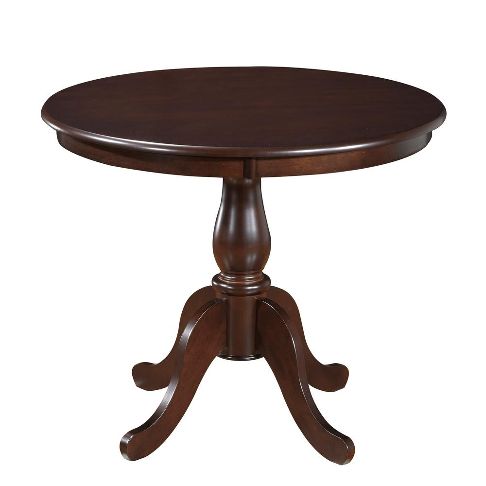 pedestal kitchen table bosch set carolina classics fairview espresso 36 in round dining 3036t esp the home depot