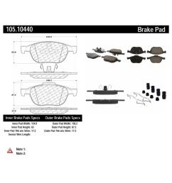 centric disc brake pad set 105 10440 the home depot 1976 ford brake switch diagram [ 1000 x 1000 Pixel ]