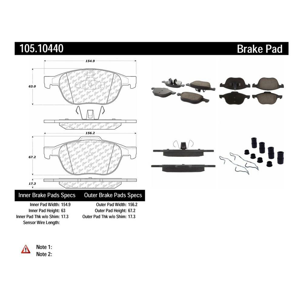 medium resolution of centric disc brake pad set 105 10440 the home depot 1976 ford brake switch diagram