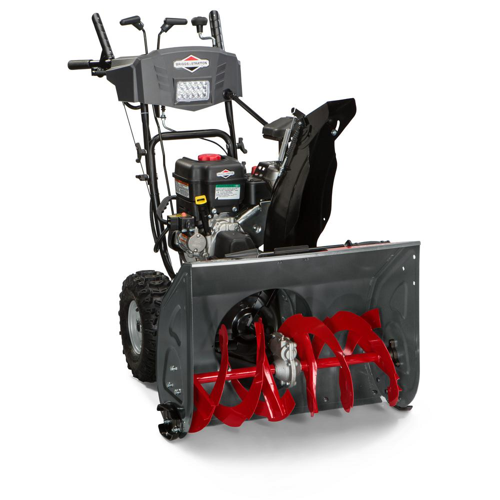 hight resolution of two stage electric start gas snow blower