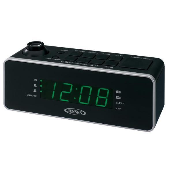 Jensen Dual Alarm Projection Clock Radio-jcr-235