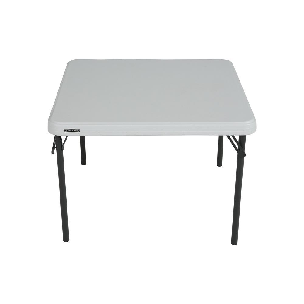Lifetime 29 in White Plastic Portable Folding Kids Table