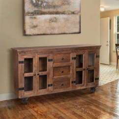 Kitchen Buffet Furniture Sideboards Buffets Dining Room The Home Depot Warm Natural Storage Cabinet