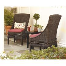 Hampton Bay Woodbury Wicker Outdoor Patio Dining Chair