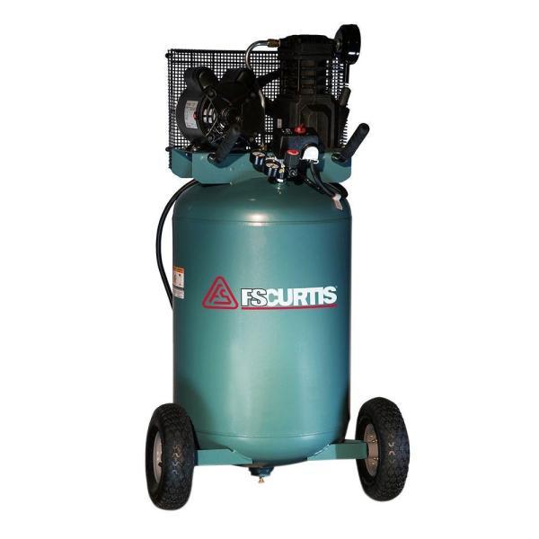 Fs-curtis 30 Gal. 2 Hp Portable Electric 120-volt Single Phase Air Compressor-fct02c48v3x-a1x1xx