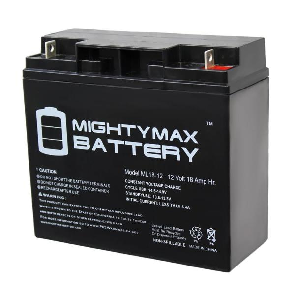 Mighty Max Battery 12-volt 18 Ah Sealed Lead Acid Sla Rechargeable Battery-ml18-12 - Home