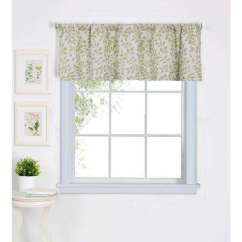 Kitchen Window Valances Mexican Style Decor Scarves Treatments The Home Depot Serene Tier Valance