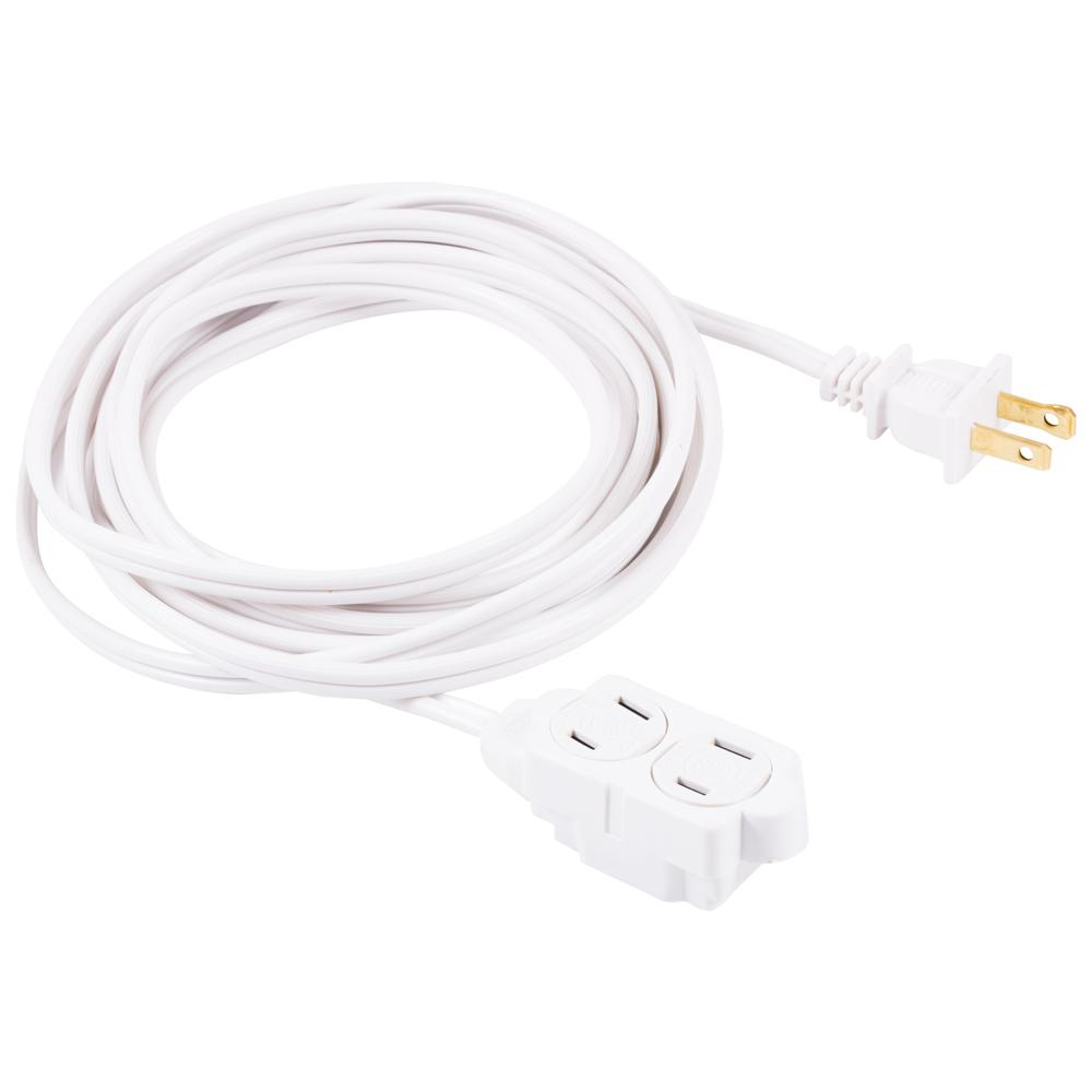 GE 15 ft. 2-Wire 16-Gauge Polarized Indoor Extension Cord