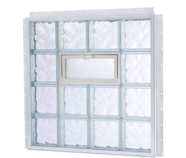 Tafco Windows  In X  In Nailup Vented Wave Pattern Glass