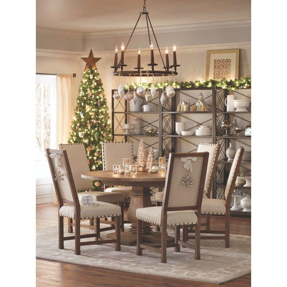 Home Decorators Collection Andrew Antique Walnut Dining Chair Set of 26379900560  The Home Depot