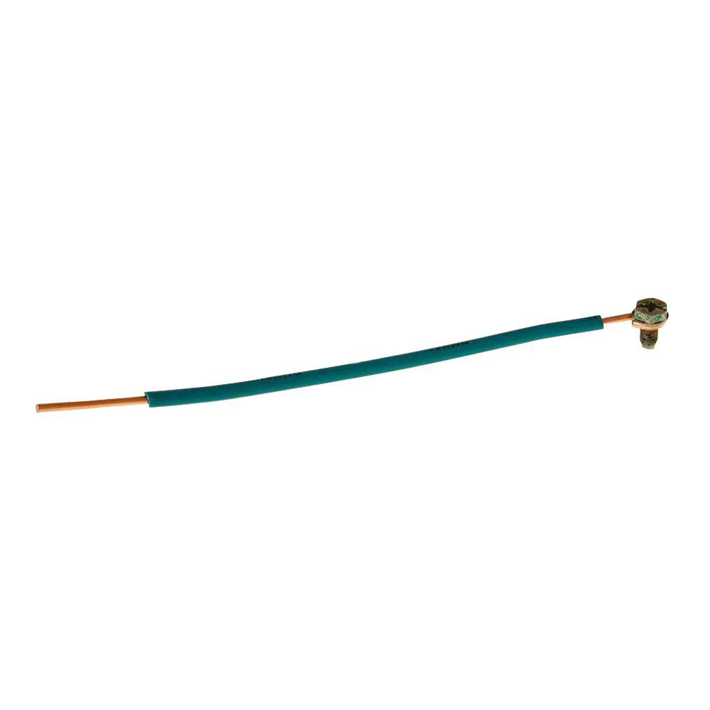 medium resolution of raco 12 solid insulated copper wire pigtail 6 in length
