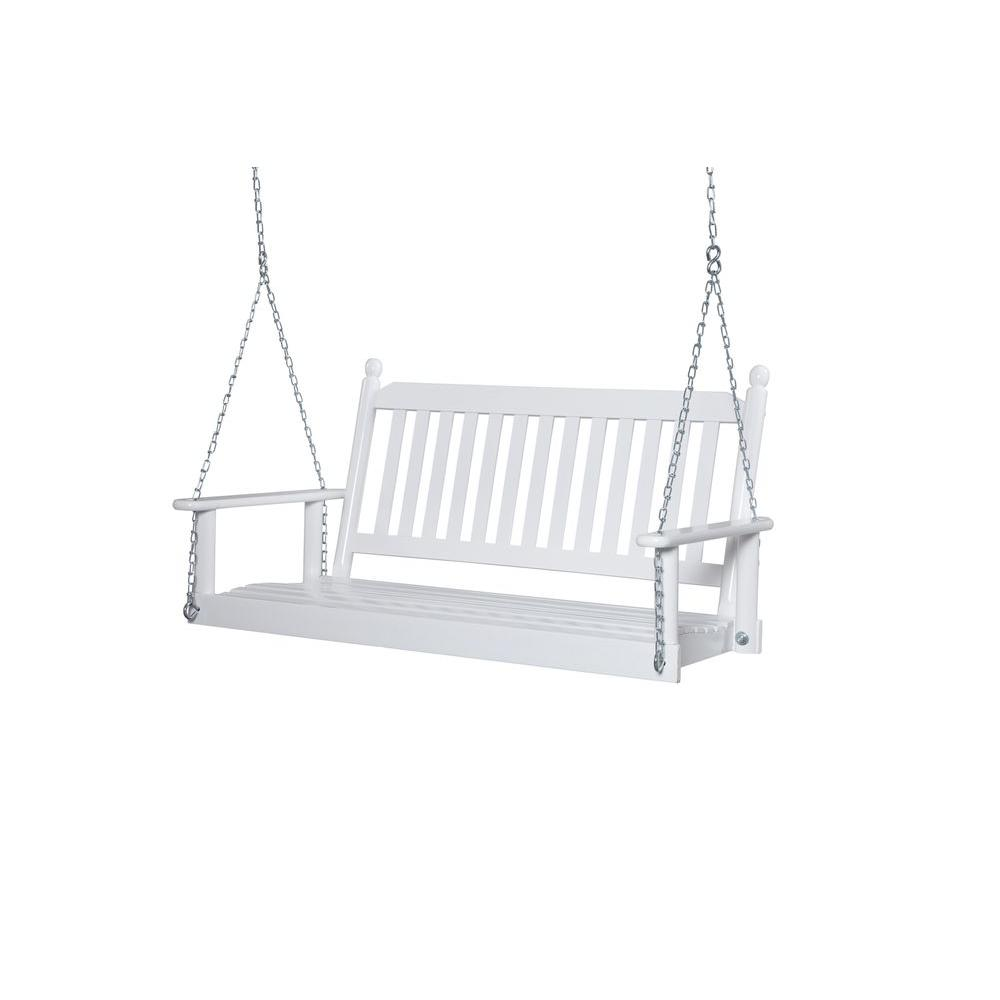 chair swing vienna deck chairs lowes porch swings patio the home depot 2 person white
