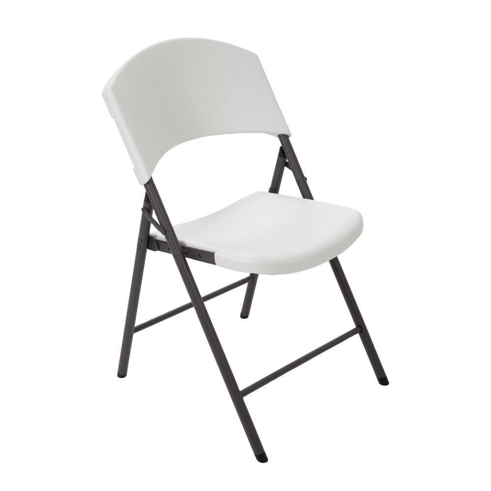 high folding chair rubbermaid lifetime almond 80452 the home depot