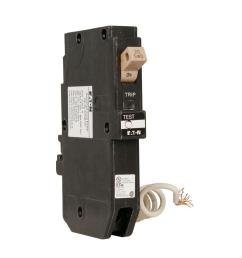 ch 20 amp 1 pole self test ground fault circuit breaker with trip flag [ 1000 x 1000 Pixel ]