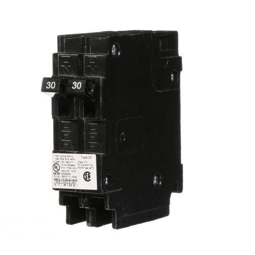 small resolution of siemens 2 30 amp single pole type qt tandem circuit breaker q3030 30 amp split breaker wiring diagram