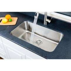 Stainless Steel Undermount Kitchen Sinks Kraftmaid Kitchens The Home Depot Craftsmen Series 29 In Single Bowl Sink