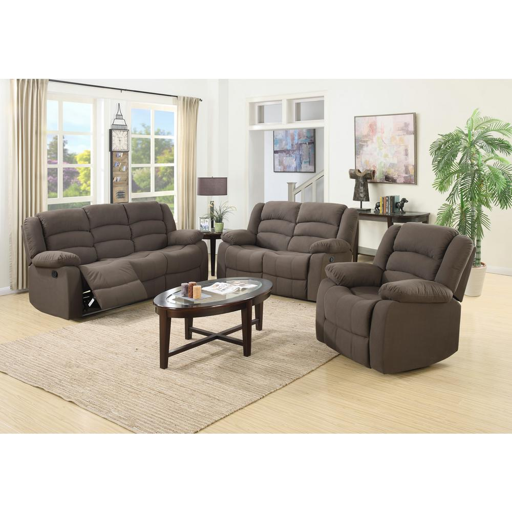 Ellis Contemporary Microfiber 3Piece Living Room Set