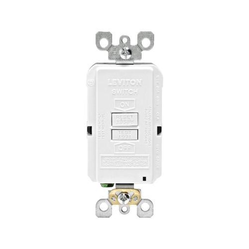 small resolution of leviton 20 amp 125 volt combo self test blank face gfci outlet white