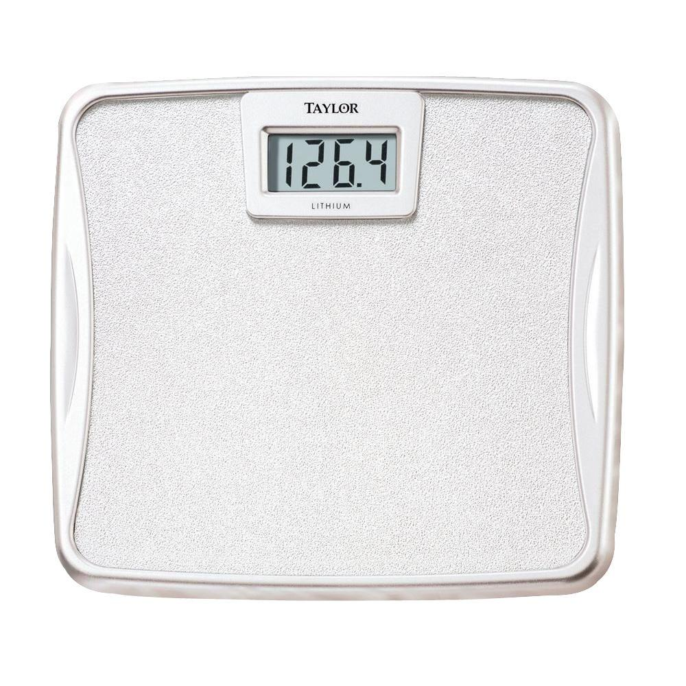 Taylor Lithium Battery Digital Bath Scale73294012  The Home Depot