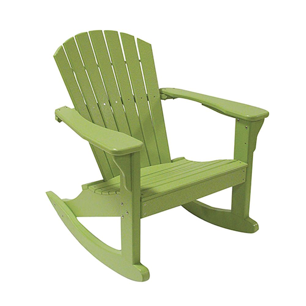 Lime Green Chairs Perfect Choice Lime Green Poly Lumber Outdoor Rocking Chair