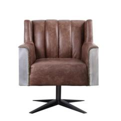 Harith High Back Leather Executive Chair Antique Ladder Identification Acme Furniture Retro Brown Top Grain Office Brancaster And Aluminum