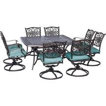 Outdoor Patio Dining Sets with Swivel Chairs