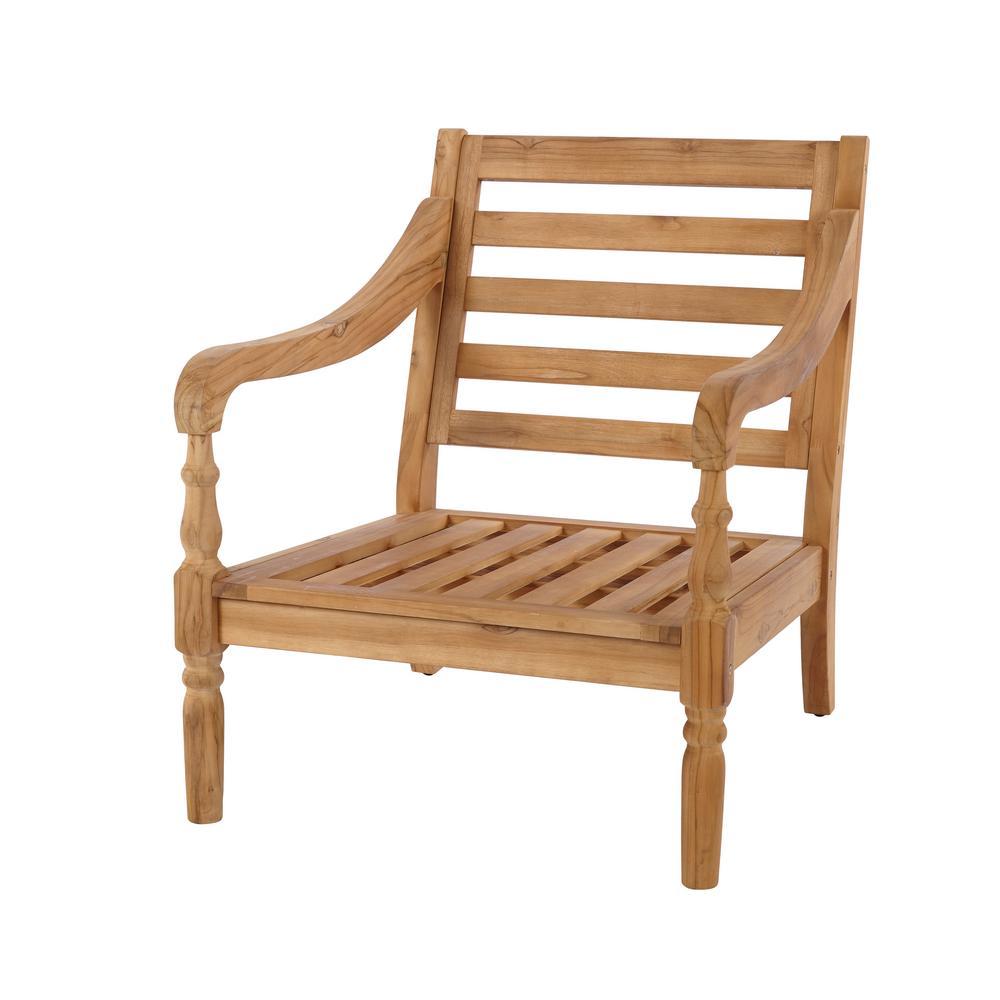 Hampton Bay Old Town Teak Patio Lounge ChairKTOB1821HDP