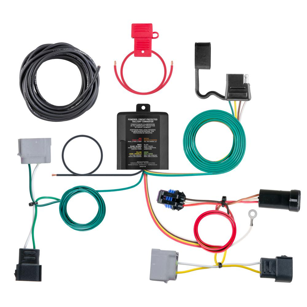 hight resolution of custom wiring harness 4 way flat output