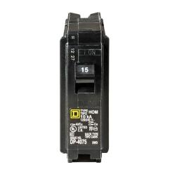 square d homeline 15 amp single pole circuit breaker hom115cp the a single phase square d 30 amp fuse box wiring [ 1000 x 1000 Pixel ]