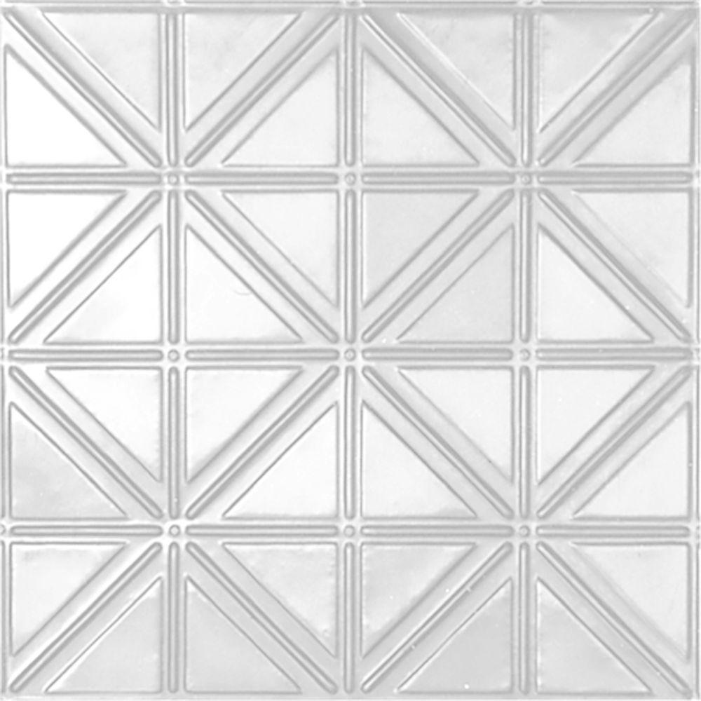 TopTile White 2 ft x 2 ft Perforated Metal Ceiling Tiles Case of 10HCW55108  The Home Depot