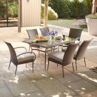 Hampton Bay Posada 7-Piece Patio Dining Set with Gray ...