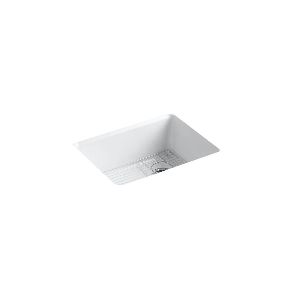 KOHLER Whitehaven Undermount Farmhouse ApronFront CastIron 36 in Single Bowl Kitchen Sink in