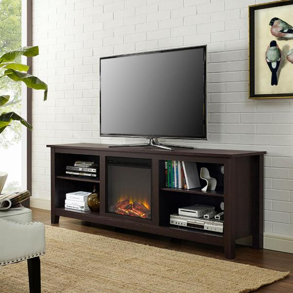 70 Inch TV Stand with Fireplace