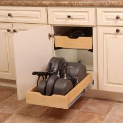 Kitchen Organizer Work Shoes Pot Pan Cabinet Rack Holder Storage Kit Adjustable Divider