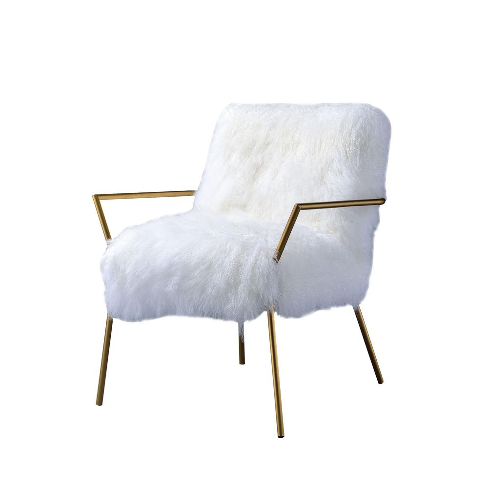 white and gold chair all purpose accent chairs the home depot badgley