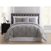 Truly Soft Arrow Pleated Grey Twin XL Bed in a Bag ...
