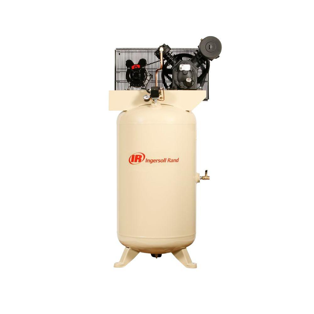 hight resolution of ingersoll rand type 30 reciprocating 80 gal 5 hp electric 230 volt single phase air compressor