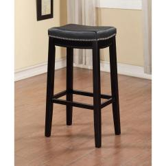 Chair Stool Black Bungee Linon Home Decor Claridge 32 In Cushioned Bar