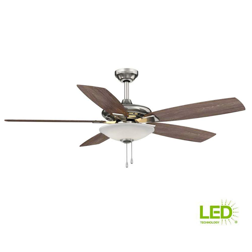 ceiling fan with light kit wiring diagram 2001 mitsubishi montero sport belt hampton bay menage 52 in integrated led indoor low profile brushed nickel
