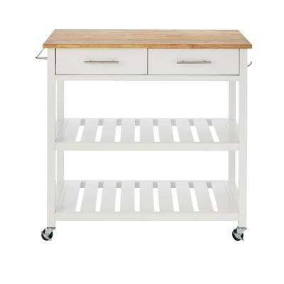 rolling kitchen carts cabinets decor islands utility tables the home depot glenville white double cart