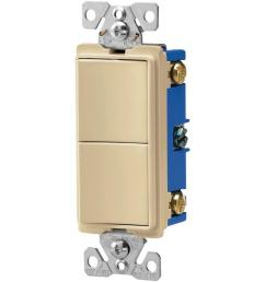 eaton 15 amp 120 volt 3 way decorator 2 single pole combination cooper wiring devices light almond toggle wall light switch 3 way [ 1000 x 1000 Pixel ]