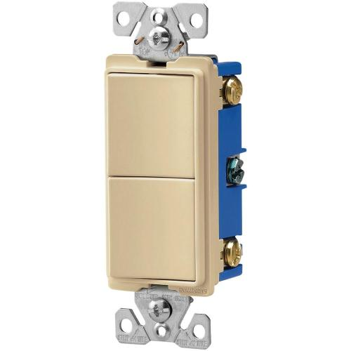 small resolution of 15 amp 120 volt 3 way decorator 2 single pole combination switches ivory
