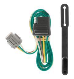 curt custom wiring connector 4 way flat output 55441 the home depot trailer wiring home depot [ 1000 x 1000 Pixel ]