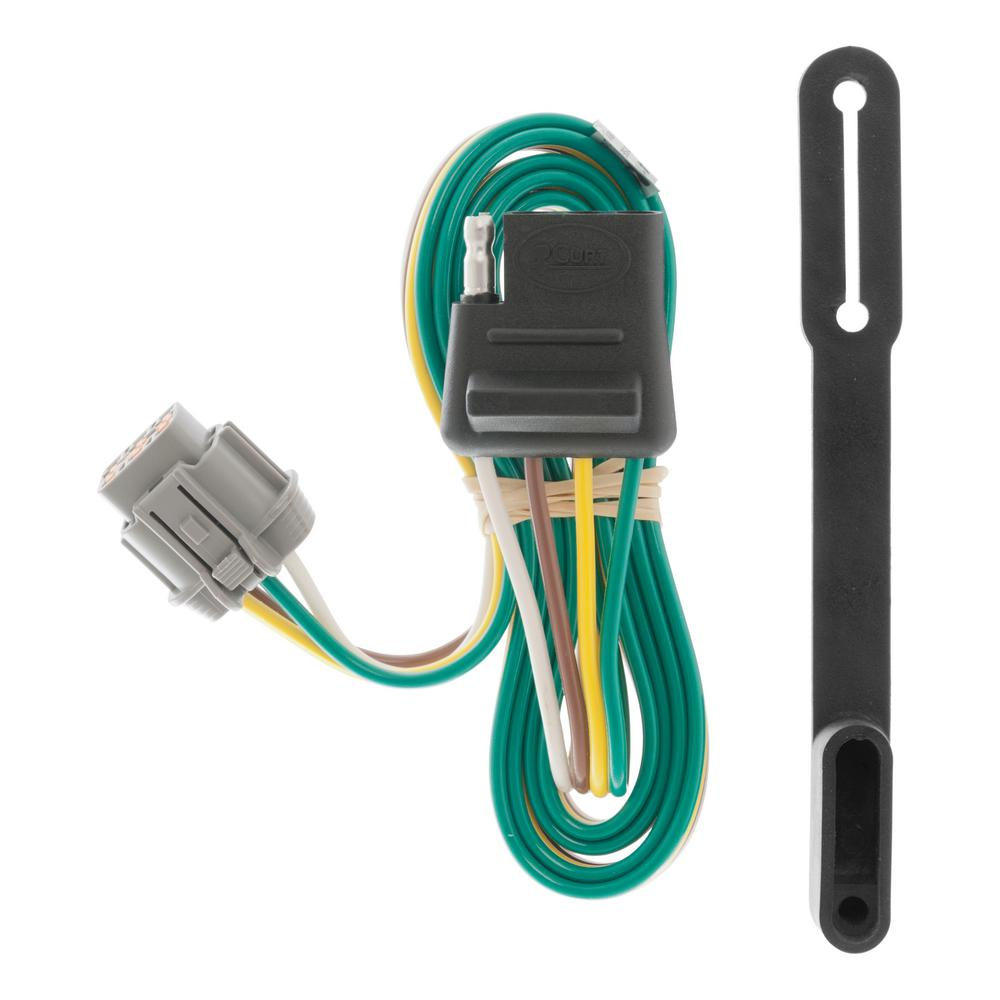 hight resolution of curt custom wiring connector 4 way flat output 55441 the home depot trailer wiring home depot
