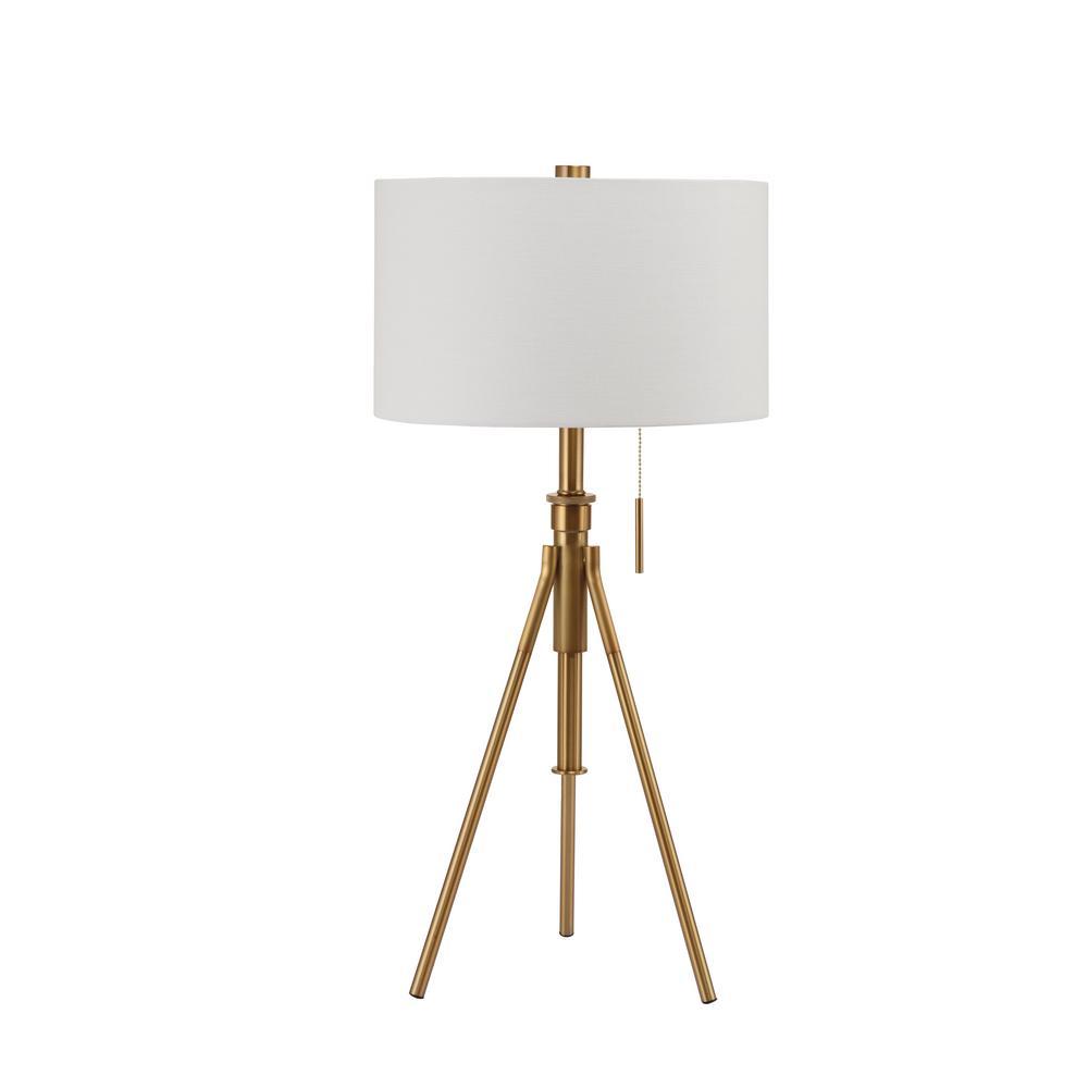 medium resolution of h mid century adjustable tripod gold table lamp
