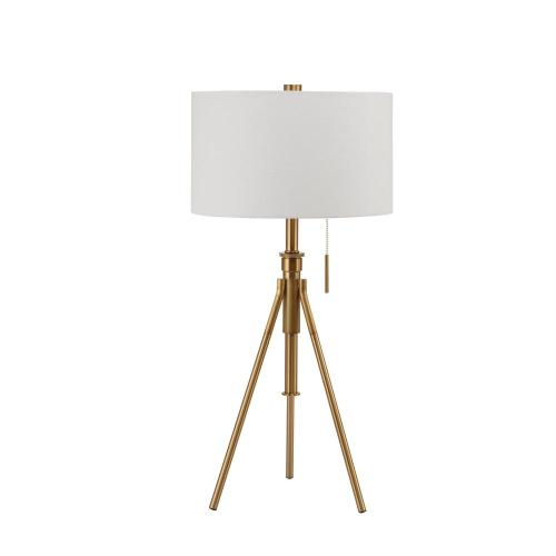 small resolution of h mid century adjustable tripod gold table lamp