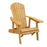 Leisure Season Reclining Patio Adirondack Chair with Pull ...