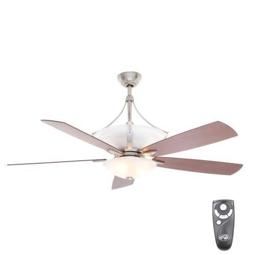 small resolution of hampton bay brookedale ii 60 in indoor brushed nickel ceiling fan 60 ceiling fans with remote control