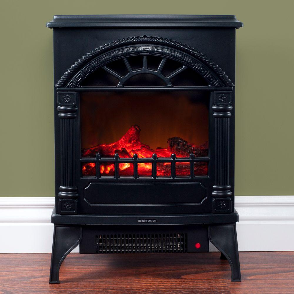 Northwest 215 in Freestanding Electric Log Fireplace in Black80WSD012  The Home Depot
